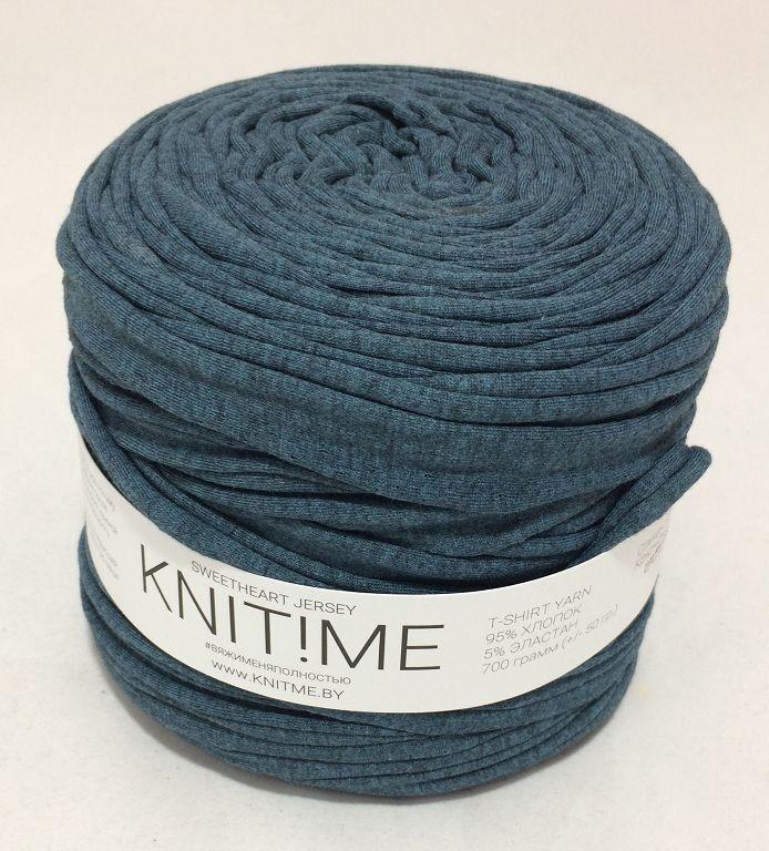 Товар для рукоделия Knit!Me Ленточная пряжа Sweetheart Jersey - Зеленая утка (SJ158) - фото 1