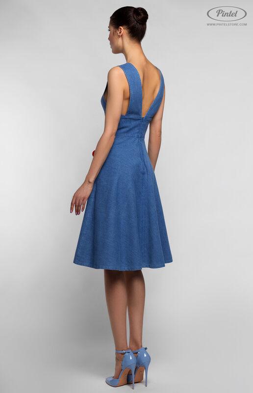 Платье женское Pintel™ Приталенное джинсовое платье без рукавов RICOTTA - фото 2