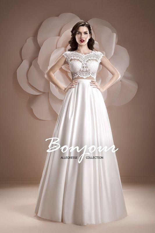 Свадебное платье напрокат Bonjour Платье свадебное «Ember» из коллекции ALLEGRESSE 2017 - фото 1