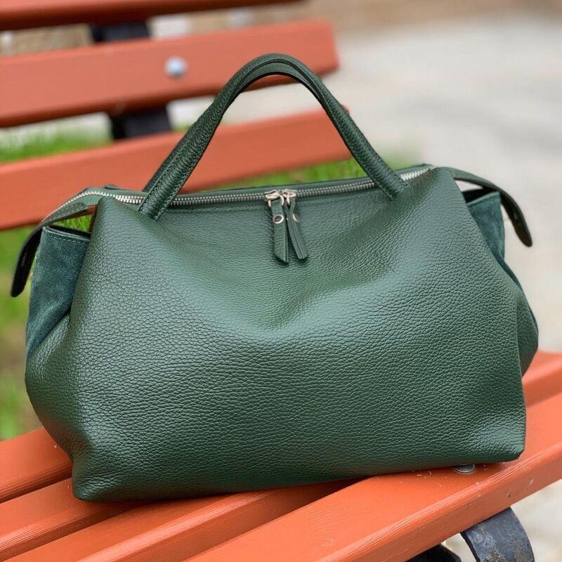 Магазин сумок Vezze Кожаная женская сумка C00534 - фото 4
