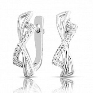 Ювелирный салон Jeweller Karat Серьги серебряные с цирконом арт. 2124466/9 - фото 1