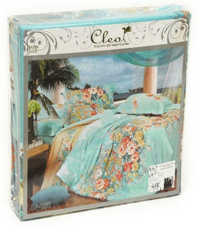 Подарок Cleo Сатиновое постельное белье 1,5 сп. арт. 15/256-SP - фото 2