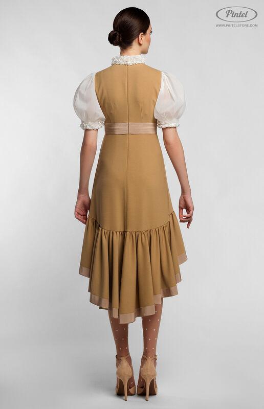 Платье женское Pintel™ Комбинированное приталенное платье VLASTYA - фото 2