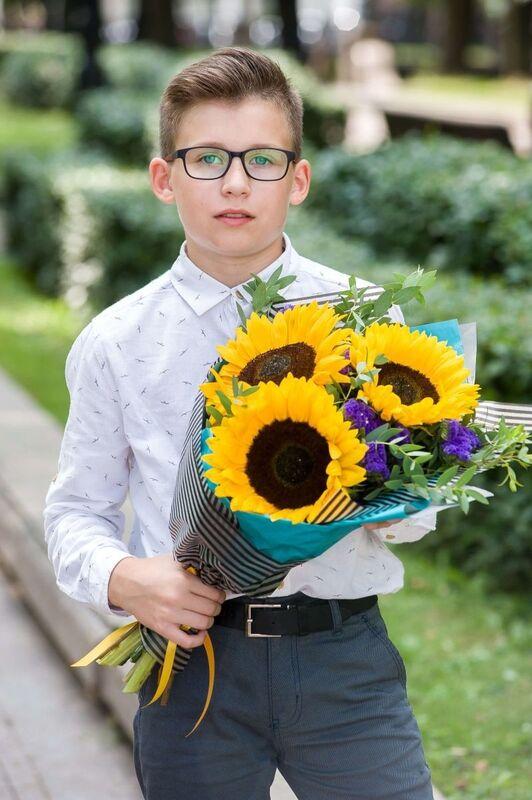 """Магазин цветов Долина цветов Букет  """"Солнечный букет"""" - фото 2"""