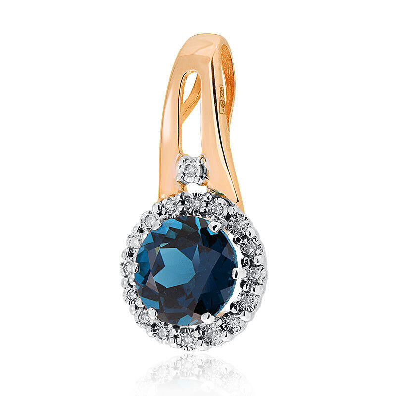Ювелирный салон Jeweller Karat Подвеска золотая с бриллиантами и топазом арт. 3236095/9 - фото 1
