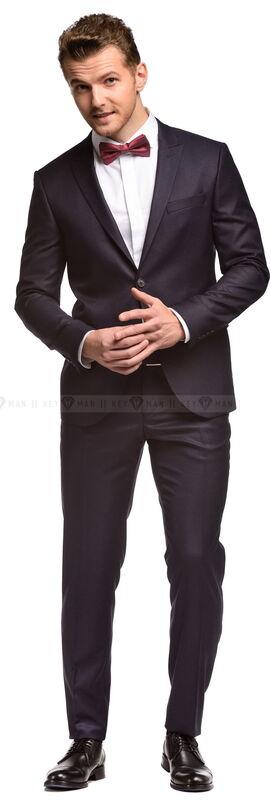 Костюм мужской Keyman Костюм мужской темно-синий с фактурой бургунди - фото 2