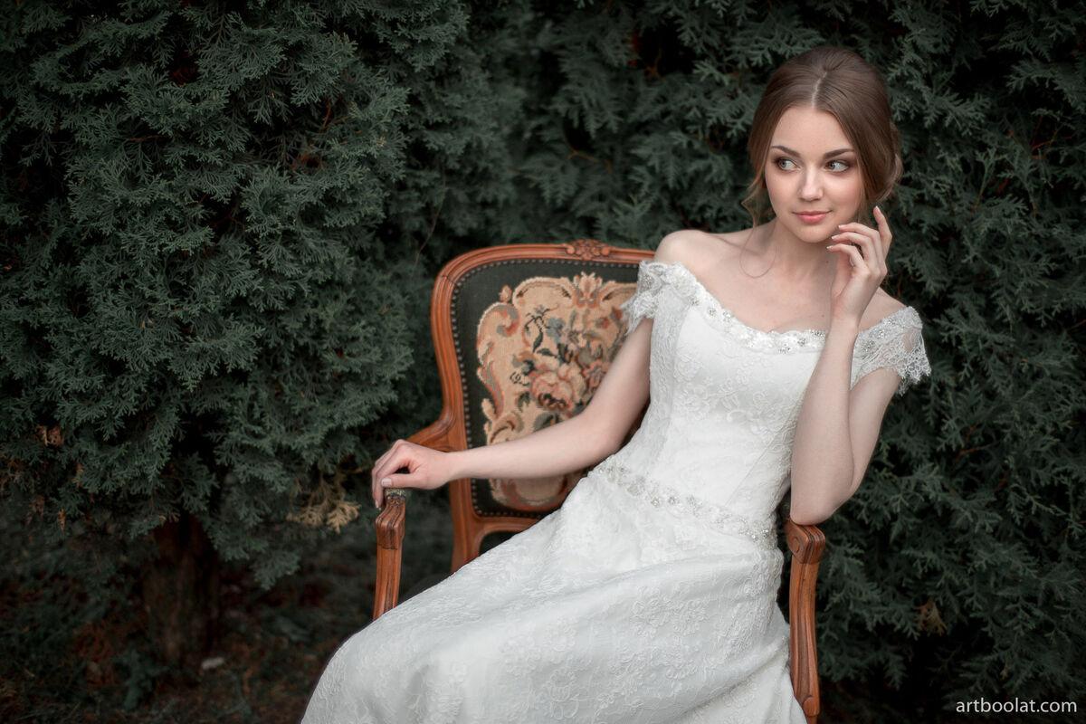 Свадебное платье напрокат Артемида Кружевное платье Ann - фото 3