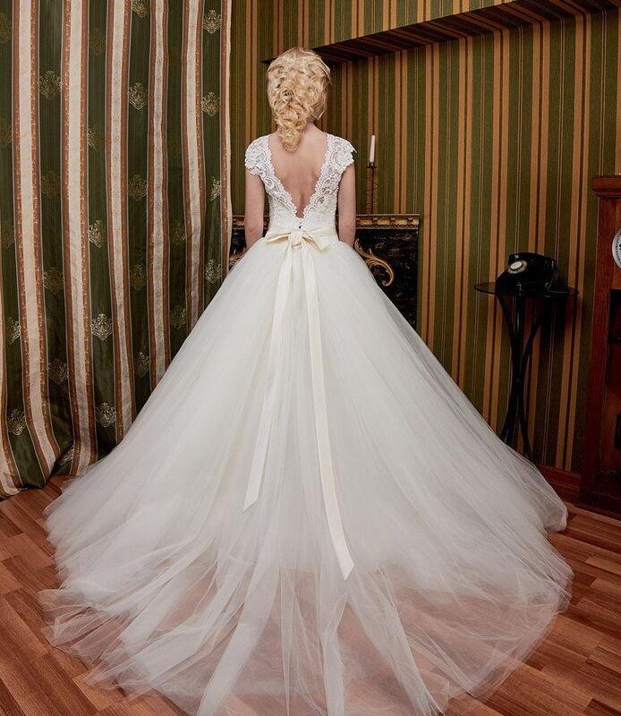 Свадебное платье напрокат ALIZA Свадебное платье «Ameli» Diva Vivien - фото 2