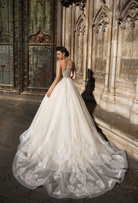 Свадебное платье напрокат Bonjour Платье свадебное «Calypso» из коллекции LA SENSUALITE 2017 - фото 4