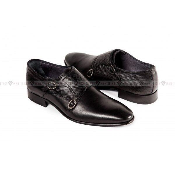Обувь мужская Keyman Туфли мужские дабл монки черные - фото 1