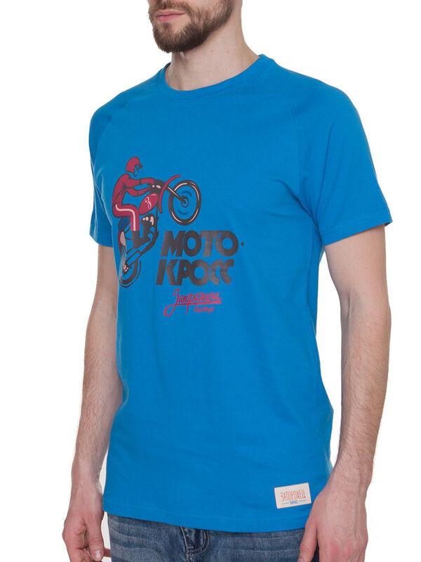 Кофта, рубашка, футболка мужская Запорожец Футболка «Motokross» SKU0111000 - фото 1