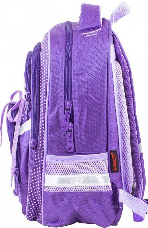Магазин сумок Winner Рюкзак школьный фиолетовый 915 - фото 2