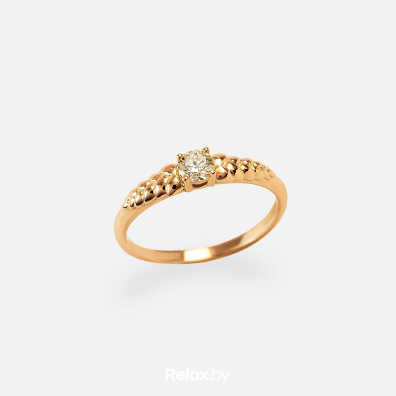 Ювелирный салон Белорусские Бриллианты Кольцо из золота со вставкой бриллиант синт. 21010027 - фото 1
