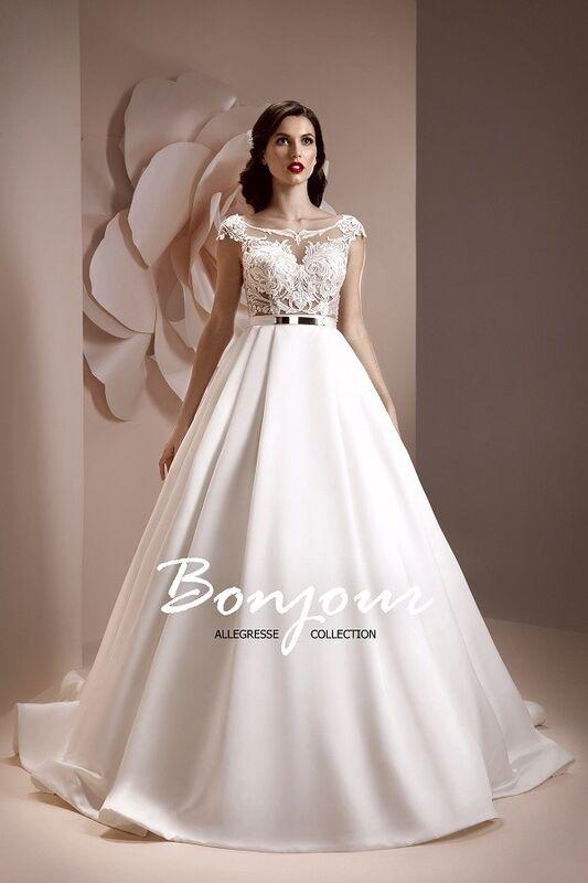 Свадебное платье напрокат Bonjour Платье свадебное «Esma» из коллекции ALLEGRESSE 2017 - фото 1