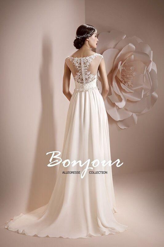 Свадебное платье напрокат Bonjour Платье свадебное «Maura» из коллекции ALLEGRESSE 2017 - фото 2