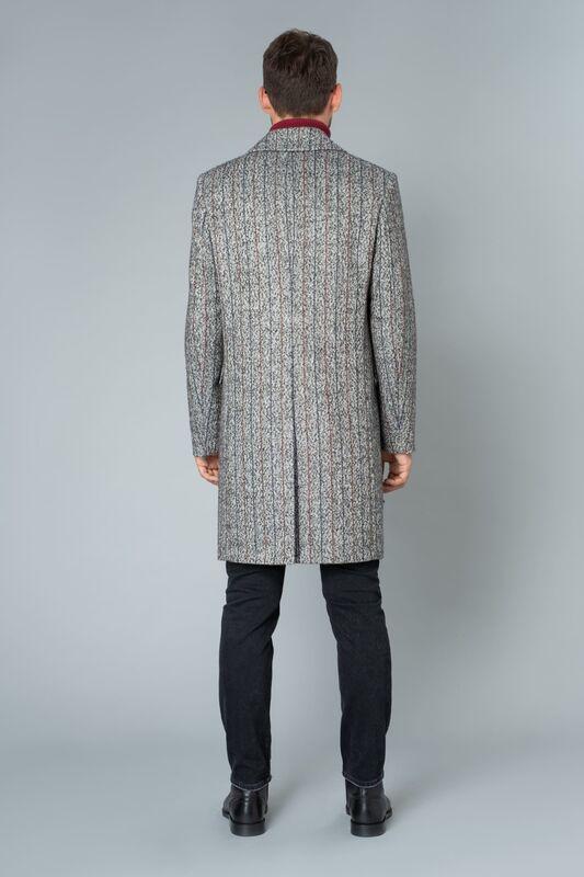 Верхняя одежда мужская Etelier Пальто мужское демисезонное 1М-9423-1 - фото 3