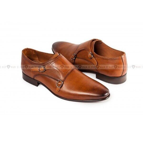 Обувь мужская Keyman Туфли мужские дабл монки рыжие - фото 1