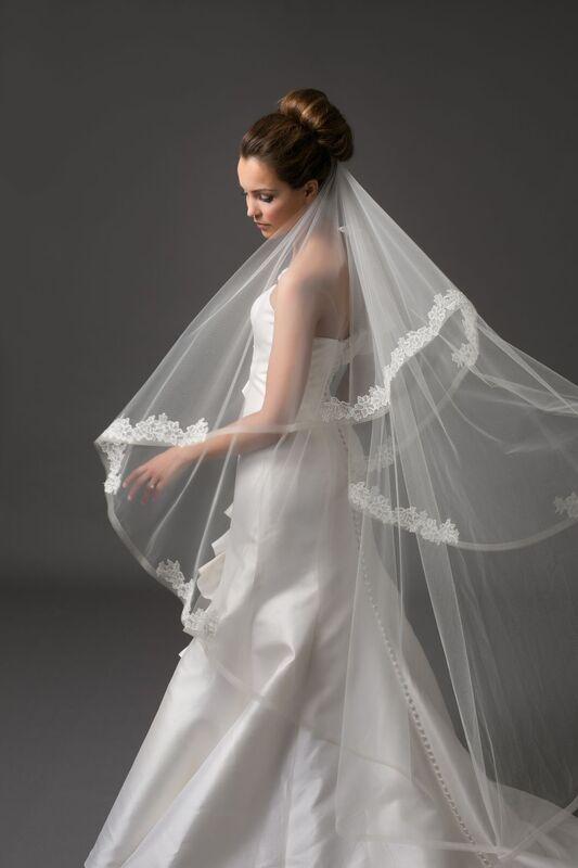 Свадебный аксессуар Bliss Свадебная фата Tartinia - фото 1
