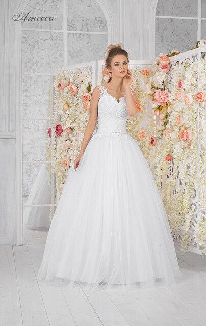 Свадебное платье напрокат Vintage Платье свадебное «Агнесса» - фото 1