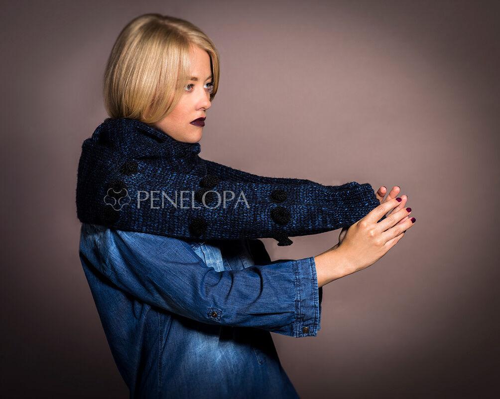 Шарф и платок PENELOPA Синий шарф-рукав M11 - фото 3