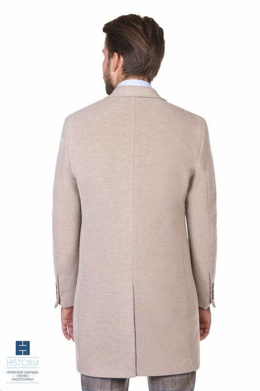 Верхняя одежда мужская HISTORIA Пальто утепленное светло-бежевое - фото 3