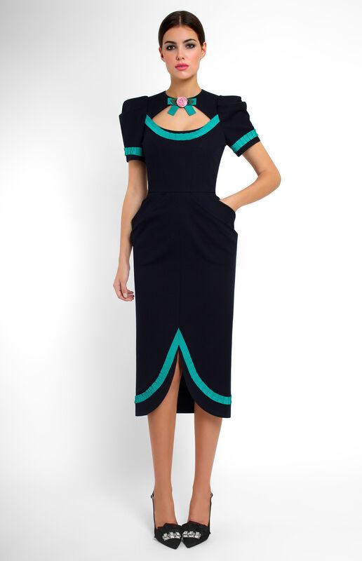 Платье женское Pintel™ Облегающее платье с коротким рукавом Maiju - фото 1