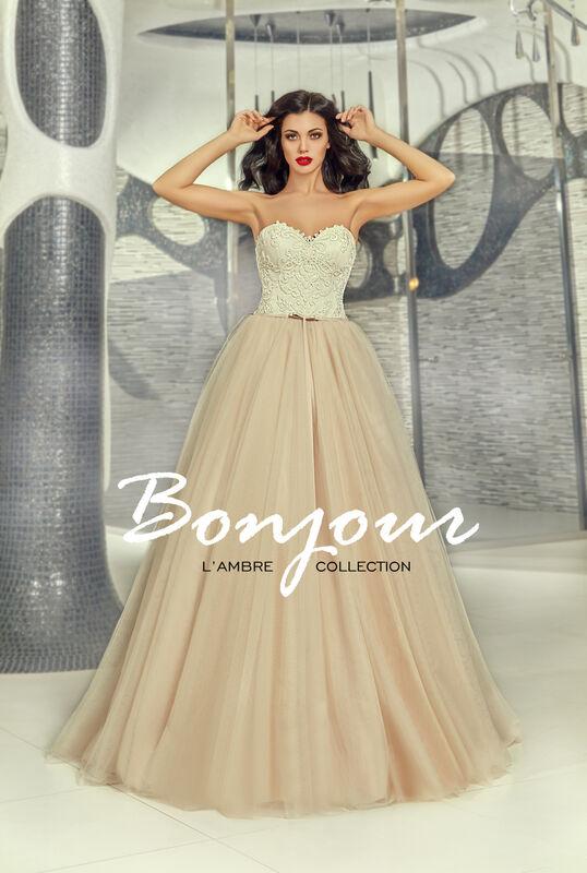 Свадебное платье напрокат Bonjour Платье свадебное «Demi» из коллекции LAMBRE 2017 - фото 1