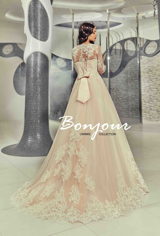 Свадебный салон Bonjour Свадебное платье «Fibi» из коллекции LAMBRE 2017 - фото 2