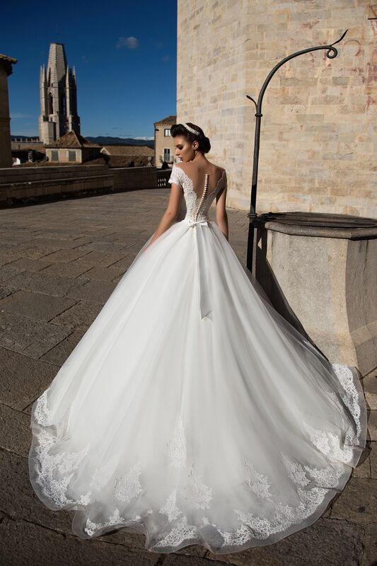 Свадебное платье напрокат Bonjour Платье свадебное «Dayona» из коллекции LA SENSUALITE 2017 - фото 3