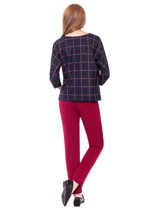 Кофта, блузка, футболка женская L'AF Блузка Claret 14CL (клетчатая) - фото 2