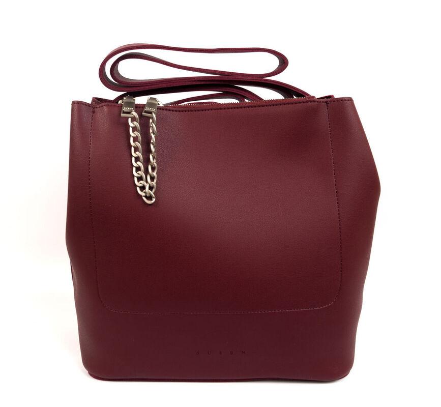 Магазин сумок Susen Сумка женская бордовая 101611103 - фото 1