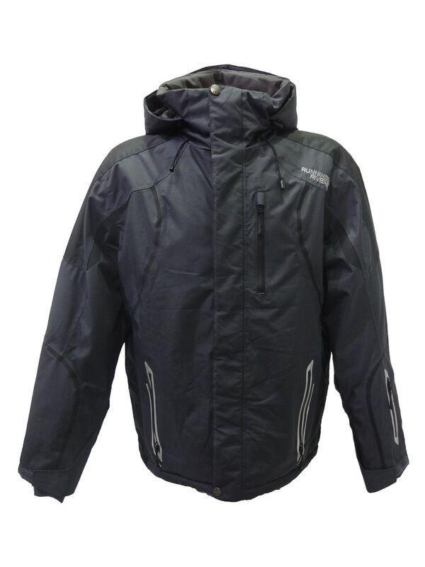 Спортивная одежда Running River Мужская горнолыжная мембранная куртка темно-серая - фото 1