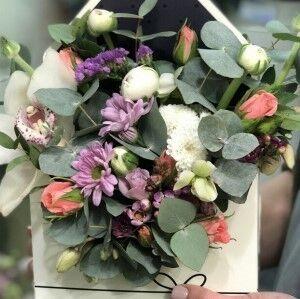 Магазин цветов Прекрасная садовница Цветочная композиция в конверте - фото 1