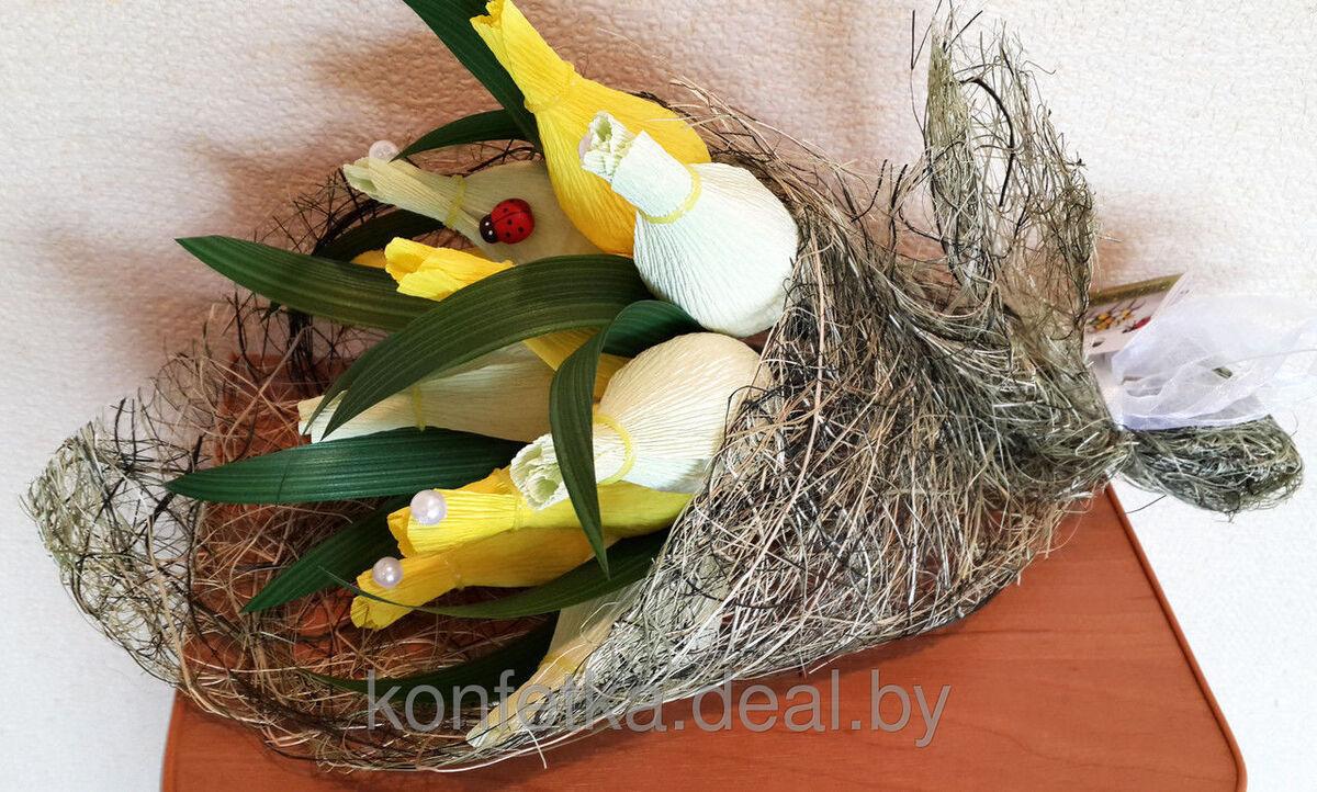 Подарок Konfetka Букет из конфет «Весенние тюльпаны» - фото 2
