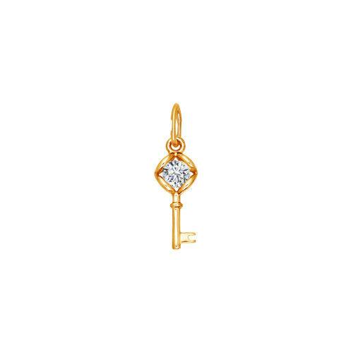 Ювелирный салон Sokolov Подвеска из золота со Swarovski Zirconia 81030039 - фото 1
