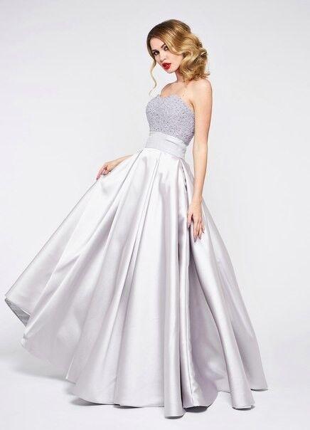 Вечернее платье Jan Steen Вечернее платье 0892 (серебро) - фото 1