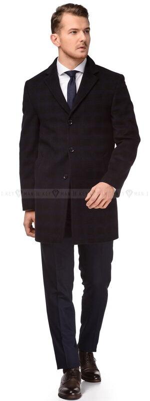 Верхняя одежда мужская Keyman Пальто мужское шерстяное приталенное - фото 1