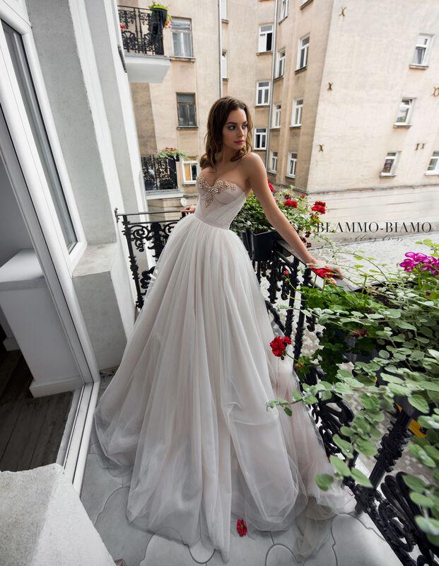 Свадебное платье напрокат Blammo-Biamo Платье свадебное The Rice Nora - фото 1