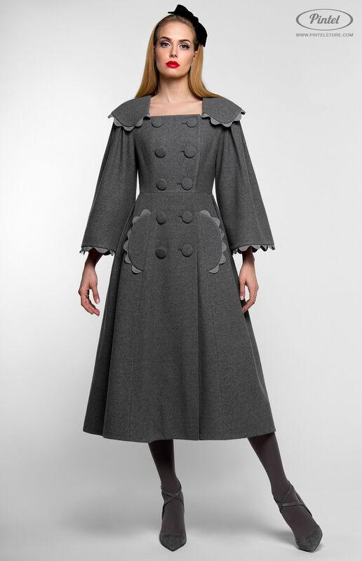 Верхняя одежда женская Pintel™ Приталенное двубортное пальто  Younis - фото 1