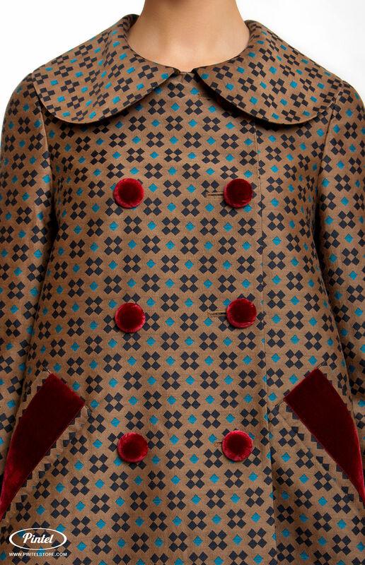 Верхняя одежда женская Pintel™ Двубортное пальто А-силуэта  Akinö - фото 3