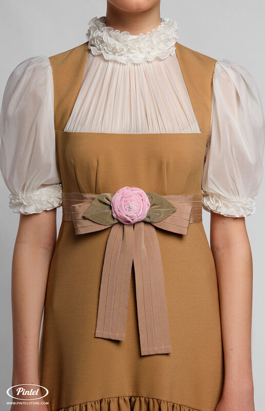 Платье женское Pintel™ Комбинированное приталенное платье VLASTYA - фото 3