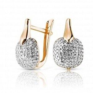Ювелирный салон Jeweller Karat Серьги золотые с бриллиантами арт. 1224531 - фото 1