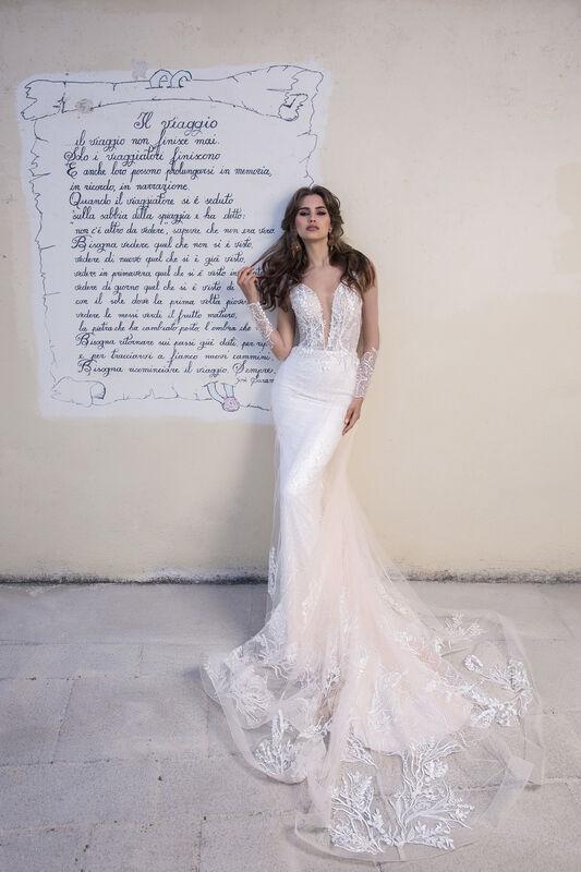 Свадебный салон Bonjour Galerie Платье свадебное EVILA из коллекции NEW COLLECTION - фото 1