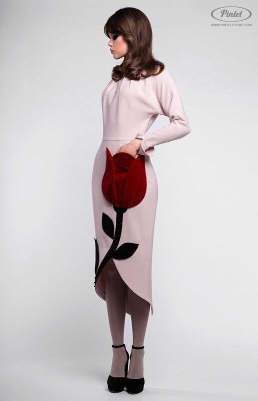 Платье женское Pintel™ Приталенное платье из натуральной шерсти Akeelia - фото 2