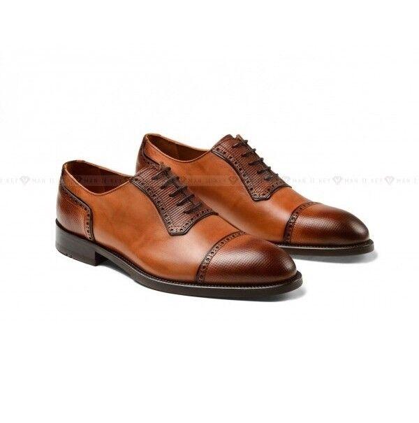 Обувь мужская Keyman Туфли мужские оксфорды рыжие с декоративной выделкой - фото 1