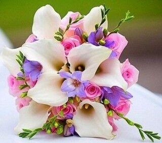 Магазин цветов Ветка сакуры Свадебный букет № 82 - фото 1
