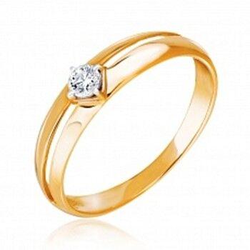 Ювелирный салон Jeweller Karat Кольцо золотое с бриллиантами арт. 3212573/9 - фото 1