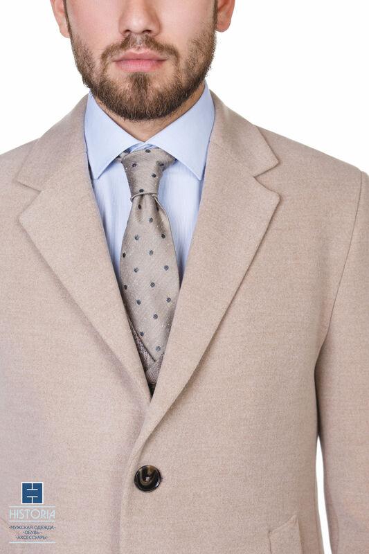 Верхняя одежда мужская HISTORIA Пальто утепленное светло-бежевое - фото 2