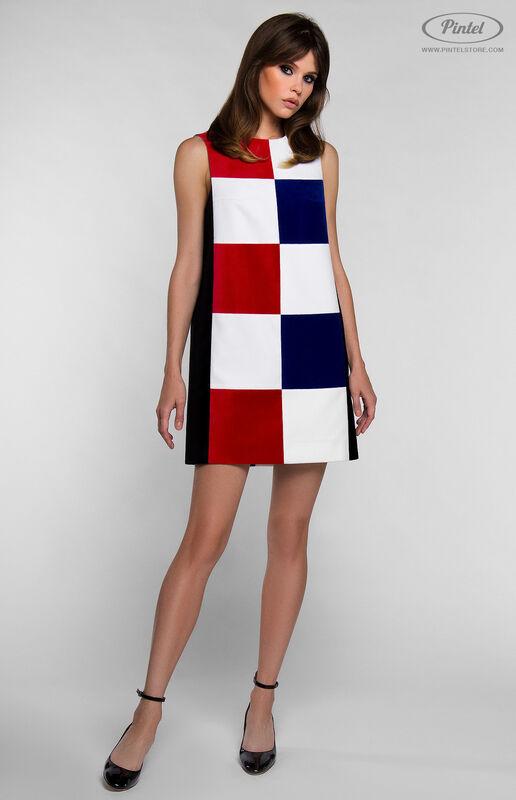 Платье женское Pintel™ Комбинированное мини-платье PATRÍCIA - фото 2