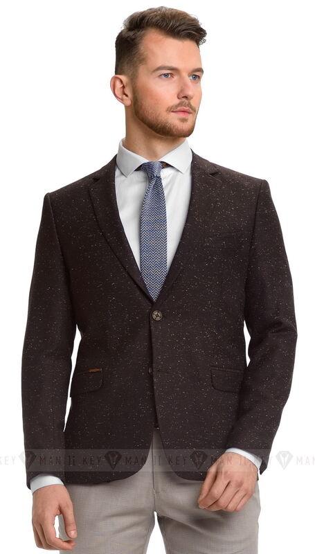Пиджак, жакет, жилетка мужские Keyman Пиджак мужской коричневый меланж - фото 1